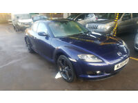 MAZDA RX8 192. 2005. 77000 MILES. MOT JULY. TIDY