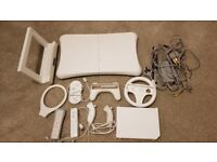 Wii console with Wii Fit and lots of accessories