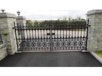 Cast Iron Entrance Driveway Gates & Railings
