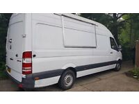 Mercedes Sprinter LWB high Roof fully loaded Mobile, Burger, Street Food, Catering Van /sale or Hire