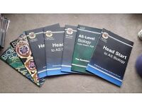 a level and as level revision books £2 each