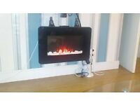 wall mounted electric fire for sale ad moving house
