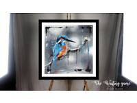 """""""The Waiting Game"""" an Original Kingfisher painting"""