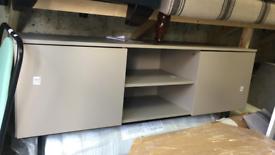 Grey large TV storage Unit stand.