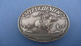 """Winchester"" Jostens Solid Silver Belt Buckle"