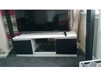 high gloss doors black and white tv stand