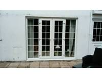 French double glazed door and separate matching door