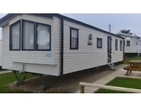 Static caravan for hire at Weymouth Bay Dorset