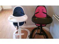 2 high chairs