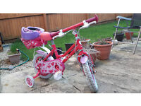 "12"" 12 inch GIRLS APOLLO SWEETIE BIKE BICYCLE, 3 to 5 years old"