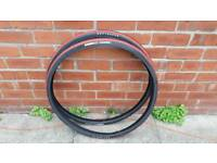 Pair of New Bontrager Race lite Tyres Triple Puncture Protection Tyres 700x32c
