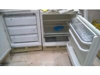 Integrated fridge and integrated freezer. Bosch. Old but working. Wanstead based