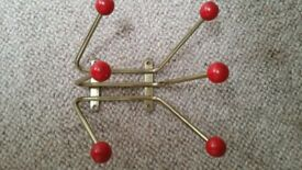 retro 1950's sputnik coat and hat wall mounted excellent condition for age