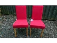 Chairs x 2 brand new