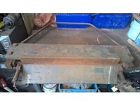 bench mounted sheet metal folder, metalwork, restoration