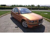 BMW 316I COMPACT E46 CHEAP TO RUN ALLOYS WITH 4X BRAND NEW TYRES SPORT LOOKING
