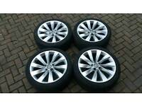 "GENUINE VW SCIROCCO 18"" ALLOY WHEELS 5X112 TURBINE PASSAT CC GOLF JETTA AUDI A3 A4 PASSAT SEAT CADDY"