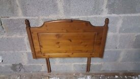 Pine single bed head board