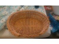 Pet, Dog bed, wicker basket