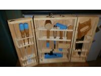 Toolbox Full hand made carpenters childs toolbox