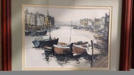Set of 4 paintings of Scarborough and whitby