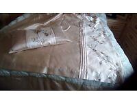 Bedroom curtains and cushions & 2 pillowshams