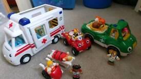 Wow toys bundle age 18m - 5 years ambulance vet car
