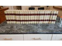 full set of Encyclopaedia Britannica 1969 white leather bindings