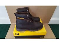 """CAT BOOTS GLENDALE 6"""" CHOCOLATE COLOUR SIZE 11 UK 12 USA 45 EUR (BRAND NEW)"""