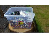 16kg job lot of lego with 165 mini figures
