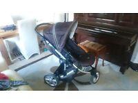 Excellent Britax 3 wheeler Pram Stroller Bargain £30