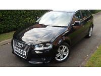2009 AUDI A3 SPORTBACK+SPORT 1.9 TDI 5 DOOR,£30 YEAR ROAD TAX,ONE OWNER,VERY GOOD COND.