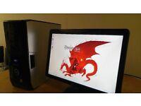 "SSD - Fast Dell XPS DRAGON AGE ORIGINS Gaming Desktop Computer PC With Dell 21"" SAVE 30"