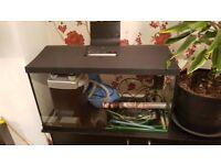 Aquarium 112 liters L75cm x D36cm x H40cm + external filter Hidom model EX-1000