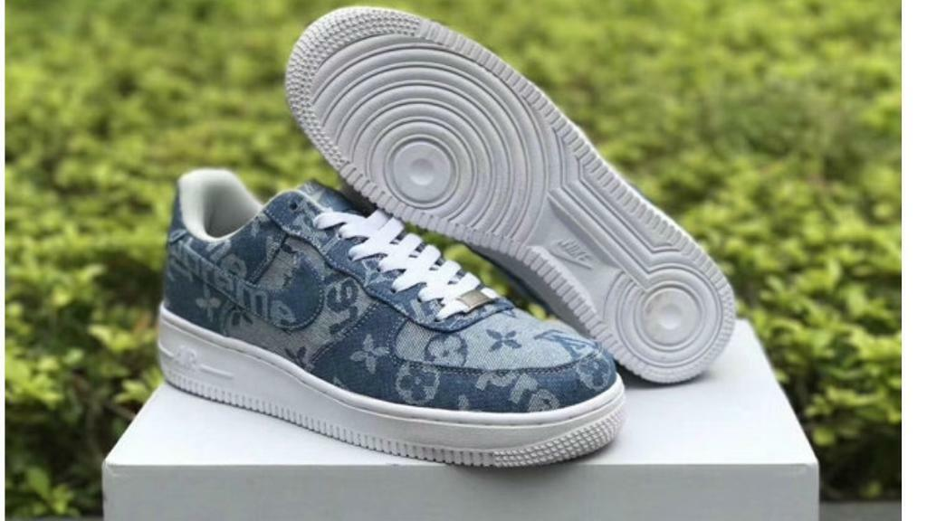 e2c61a0353d3 Nike Air Force one 1 supreme Louis Vuitton trainers