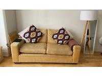Two seater sofa super comfy in mustard colour
