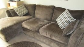 SCS Brown Large Corner Sofa with cushions (breaks in 2 for easier transport) £200 oso