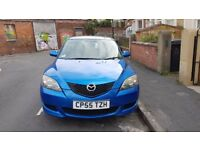Selling blue Mazda 3, clean inside and out