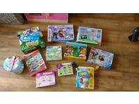Selection of toys games and jigsaws