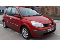 2006 56 RENAULT SCENIC DYNAMIQUE S 1.6 16V MOT 05/17 RED (CHEAPER PART EX WELCOME