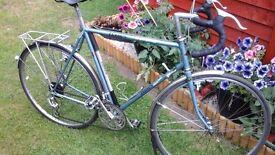 Dawes Super Galaxy circa 1980's. 18 speed down shifters. 531 hand built.Brookes saddle.Small /medium