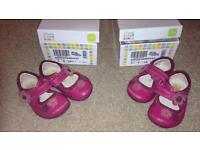 2 pairs shoes - Clarks first shoes: size 3G & 3.5G