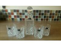 Whiskey decanter & 4 glasses (boxed)