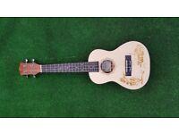 """Kmise Laminated Spruce 23"""" Electro-Acoustic Concert Ukulele Hawaii Guitar, Brand new, never used."""