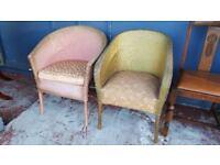 2 Lloyd Loom Chairs £25 Each