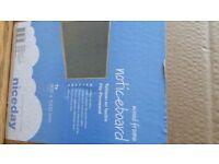 NEW & UNUSED Niceday Wood Framed Felt Notice Board Grey 900H x 1200Wmm