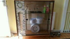 1940s circa glass cabinet original features Smiths clock working