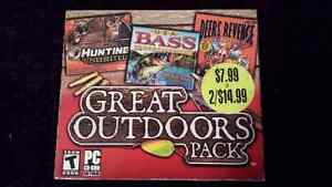 3 in 1 Great Outdoors Pack Hunting and Fishing Games