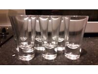 SIX GLASS SHOT GLASSES, GOOD CONDITION, FREE TO COLLECTOR BRISTOL CITY CENTRE