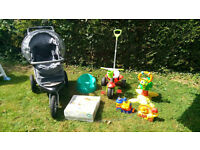 Push Chair Baby Bath Bumbo Push Bike Tortoise Seat and Toys